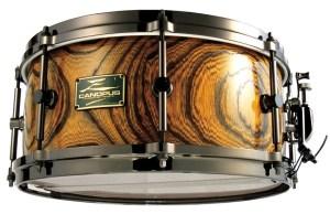 "Canopus Zelkova 14"" x 6.5"" snare drum in limited edition Ryuko finish"