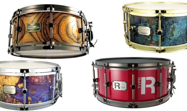 canopus snare drums, zelkova, stabilized wood, type-r