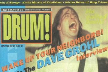 dave grohl drum magazine cover