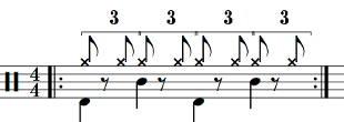 Shuffle et half time shuffle (Purdie shuffle)