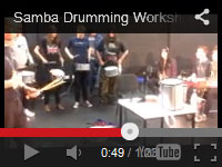 This video shows students from Middlesbrough college playing an authentic Samba.