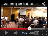 In this video, you can see how we guide a large group of 250 delegates through some African and Samba drumming styles at this corporate event.