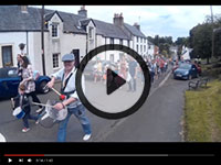 Drumming workshops carnival procession at Gunnorock in Scotland