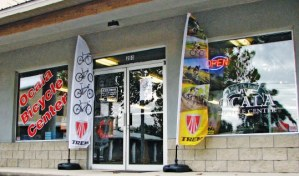 Retail store front - banners