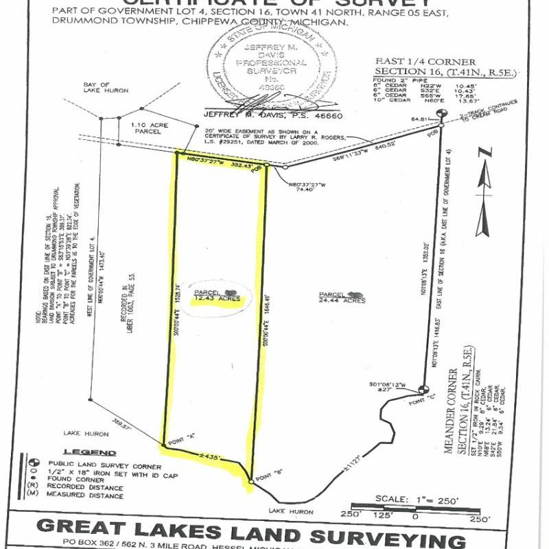 Yorty Point Survey Map