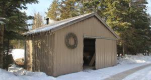Wood burner shed