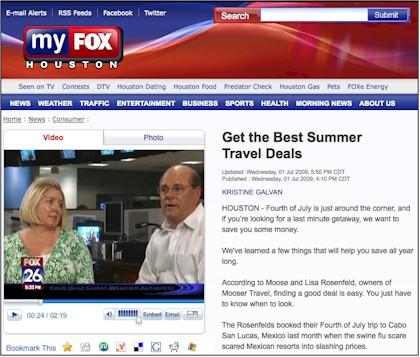 Mooser Travel on Fox 26 Houston