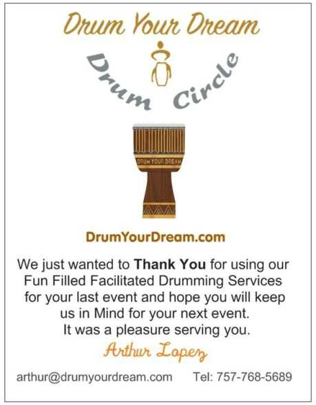 Thank You From Drum Your Dream