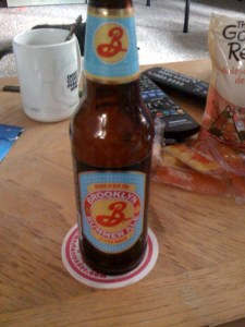 A 12oz bottle of Brooklyn Brewery Brooklyn Summer Ale