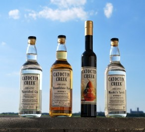 Four bottles from Catoctin Creek Distillery