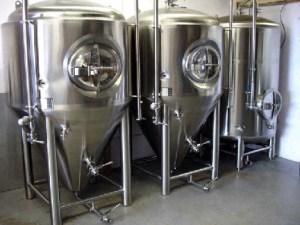Stainless steel kettle and fermenter tanks