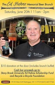 Ed Hahne Memorial Beer Brunch Poster