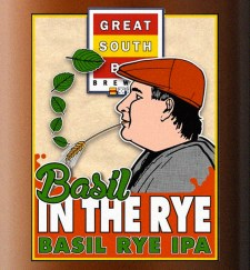 Great South Bay Brewing Basil in the Rye label