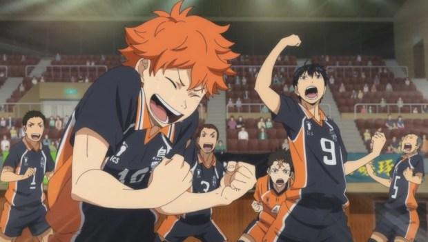 Image result for anime  haikyuu win