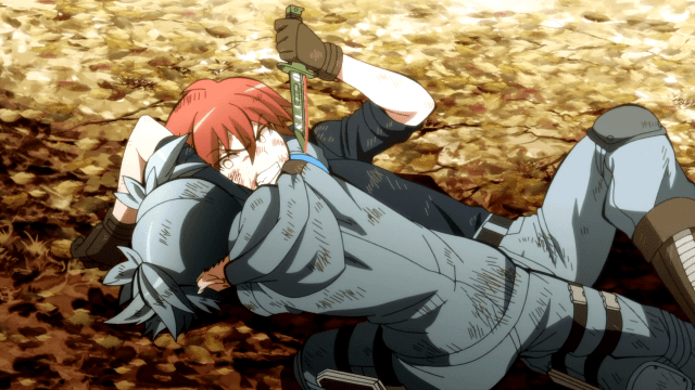 assassination classroom nagisa and karma fighting