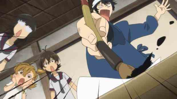 barakamon-02-seishuu-tamako-naru-miwa-calligraphy-writing-brush-comedy