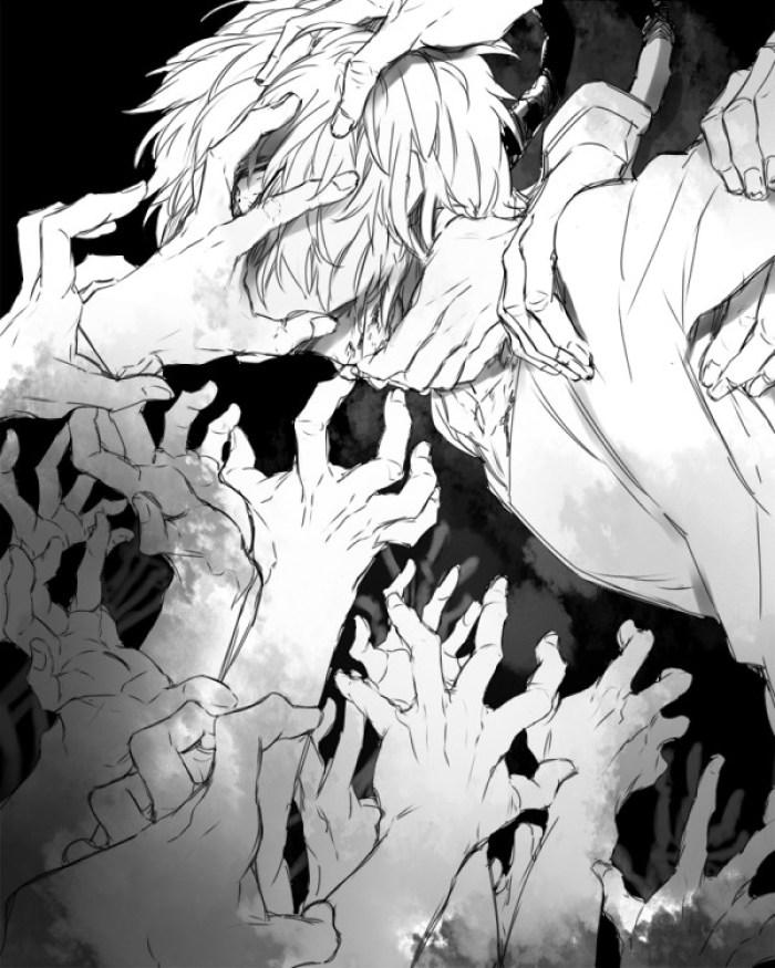 Shigaraki.Tomura black and white