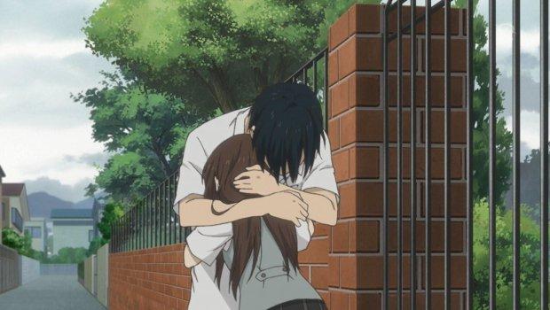 Aoi and Kaoru hug
