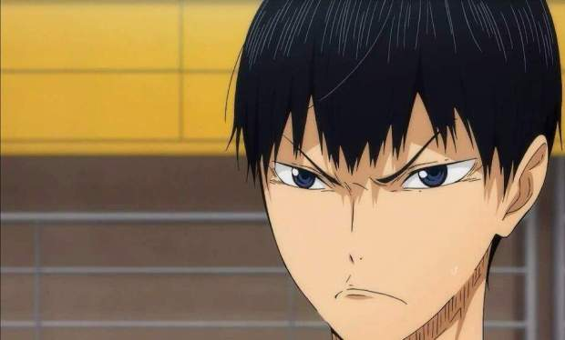 Kageyama concentrated