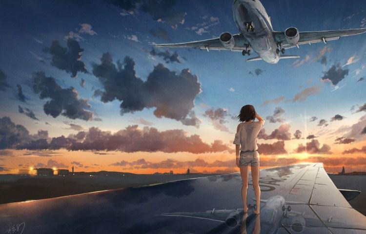 anime airplane wallpaper