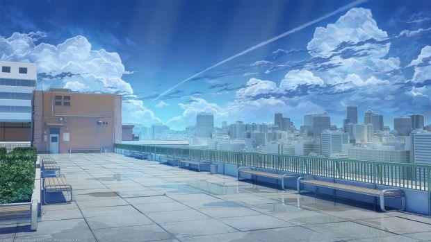 anime rooftop
