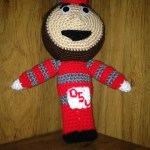 Crocheted Brutus the Buckeye Pattern