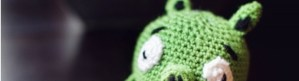 Crocheted Plush green pig from angry birds