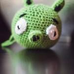 Crocheted Green Pig Pattern