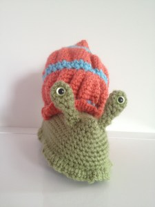 Crocheted snail