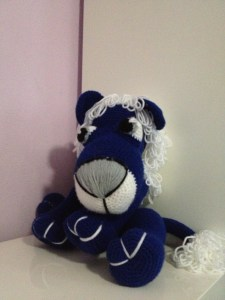 Crochet Plush Blue Lion