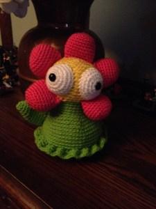Crochet flower monster