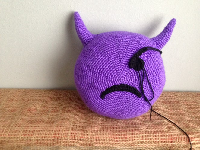 Crochet Emoji Pillow