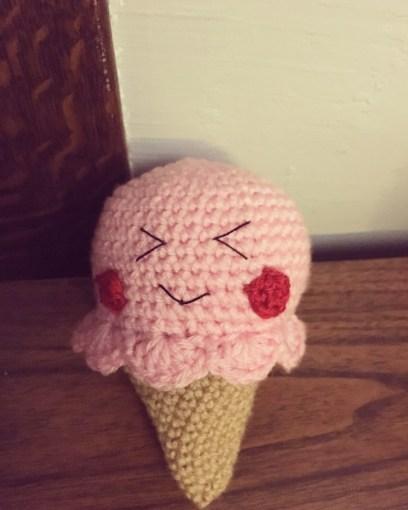 Free Crochet Pattern - Ice Cream Cone