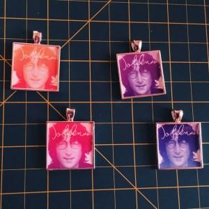 John Lennon Postage stamp necklaces