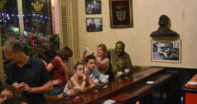 Famous Hemingway Statue in Havana Bar