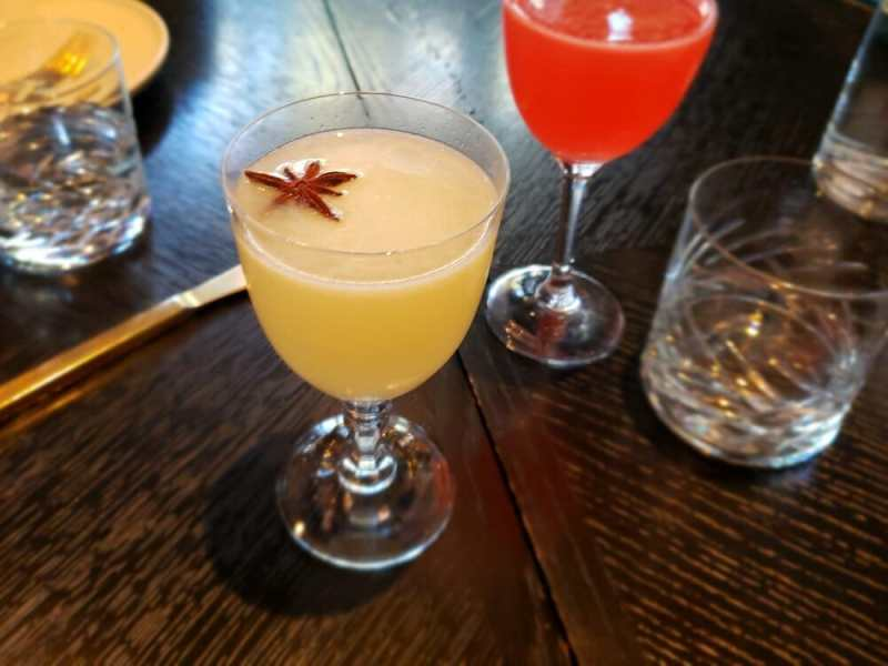 Cocktail with star anise garnish