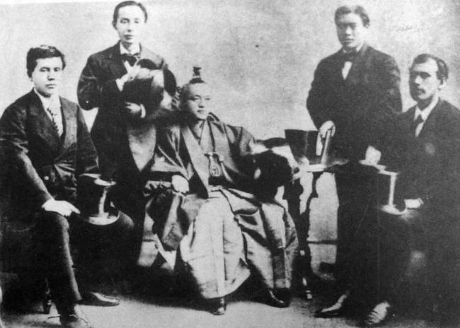 Iwakura_mission_members