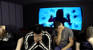 a dramatic reenactment of the DIAG crew watching Poltergeist