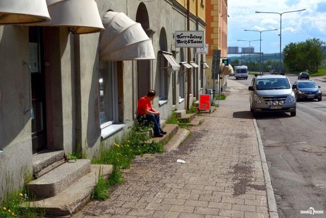 Швеция. Кируна. На улицах города