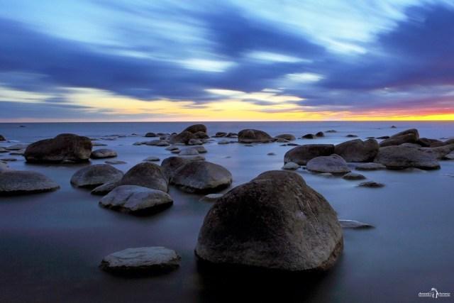 Шепелёвский маяк. Пейзаж. Закат на море.