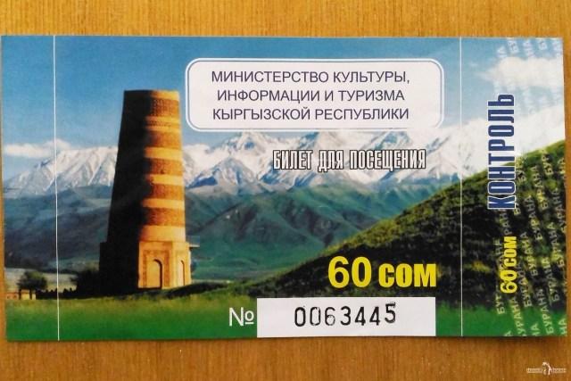 Башня Бурана. Билет в музей