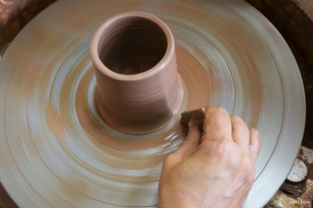 Оятская керамика. Гончарный круг