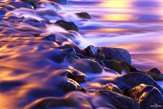 Эффектно снять текущую воду
