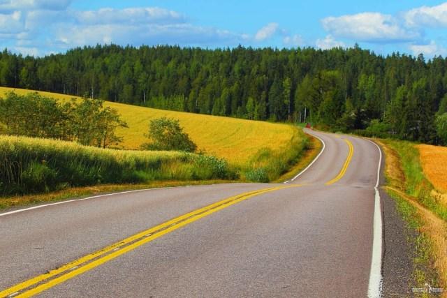 Финляндия на авто. Фермерские поля