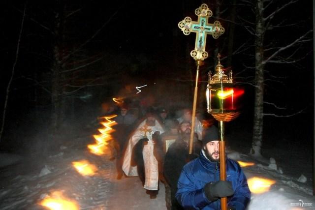 Крестный ход в Праздник Крещения Господня в Антониево-Дымском монастыре