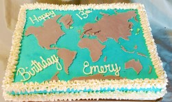 1/2 sheet- world map