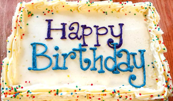 1/4 sheet- Happy Birthday
