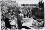 Logor Jasenovac, geodeti na građevinskim radovima