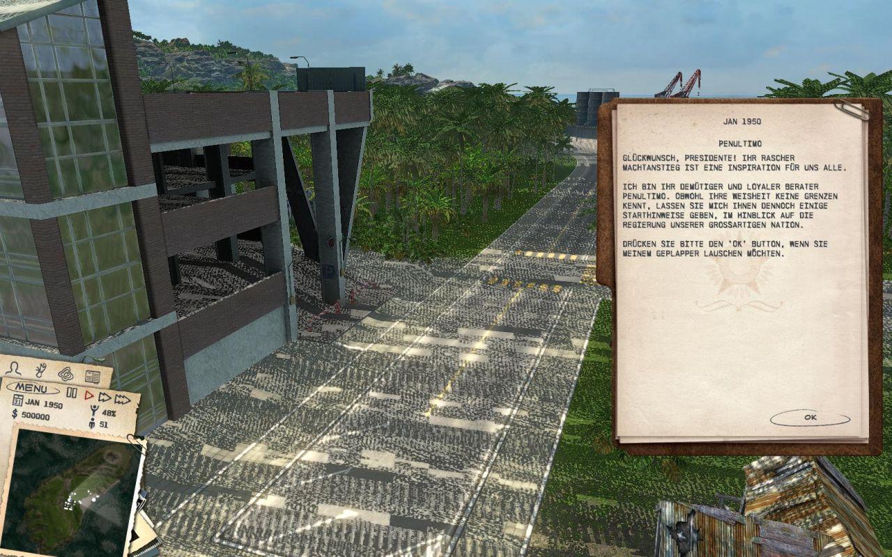 Seltsame Grafikfehler in der Tropico 3 Demo