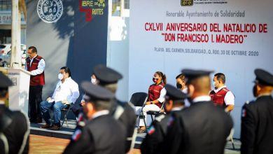 """Photo of Conmemora Ayuntamiento de Solidaridad aniversario de Francisco I. Madero, """"Paladín de la Democracia"""""""